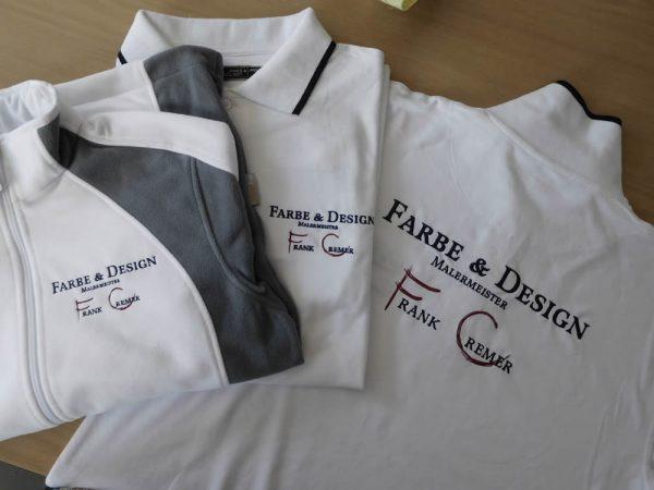 Bestickte Arbeitskleidung Malerbetrieb
